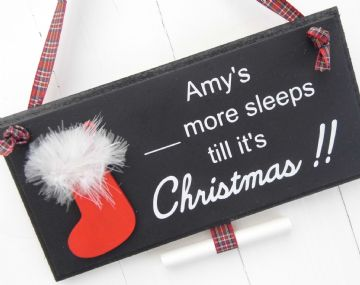 Christmas Countdown Sign - Christmas  Stocking
